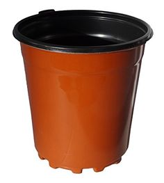 """6 1/2 Inch Round Plastic Flower Pot - Made in USA - Reusable, Recyclable for Garden, Greenhouse, Hydroponics Holds 2.5 Qts - Actual Dimensions 6.3"""" Wide by 6.7"""" Tall -  - Terracotta, 25-  -- Insider's special review you can't miss. Read more  : Gardening DIY"""
