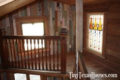 Tiny Texas Deluxe Homesteader Cabin - cozy loft reading nook