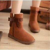 Flat Bow Woman's Cute Winter Snow Boots