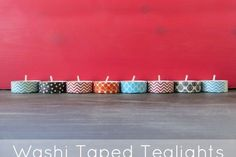 Washi Tape Gifts / Regalos Washi Tape Tealights