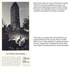 Perspective: Up in the Old Hotel | Trying to convey the tradition of The Pierre hotel in New York in a print ad | via @Adweek #Advertising #Print