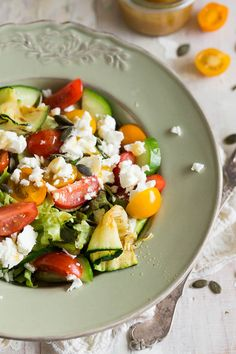 Salad with Grilled Courgette/Zucchini and Feta - Simone's Kitchen