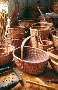 hand made Nantucket baskets: that trumps those expensive Longaberger baskets any day.