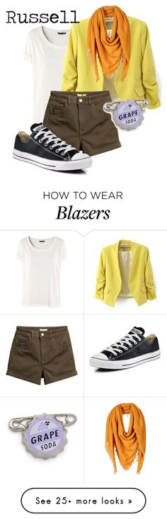 """""""Russell"""" by lambrightness on Polyvore featuring H&M, WithChic, CORNICI and Converse"""
