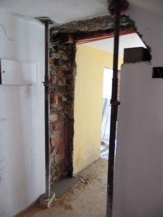 12. Mai 2015 - Heute berichten wir schwerpunktmässig vom Hoteltrakt. Hier ging einiges; beispielsweise die Verbreiterung der Gänge wie im Bild ersichtlich...