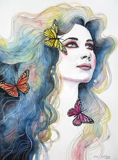 Erica Dal Maso is Italian artist who created the amazing watercolor paintings.