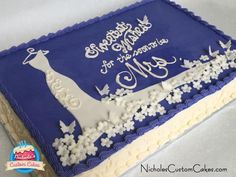 Wedding Shower Sheet Cake and Cupcakes - Cake by NicholesCustomCakes