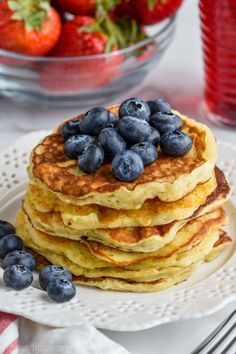 These Yogurt Pancakes are sure to be a huge breakfast win in your house!