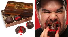 Zombie Head Bon Bons with Cherry Brains