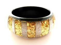 Get your sales stripe on! Gold and silver glitter stripe bangle Jewelry King, Silver Glitter, Bangles, Jewellery, Gold, Bracelets, Jewels, Silver Sequin, Schmuck