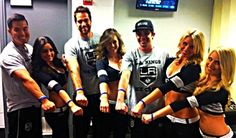LA Kings Ice Crew Support Cure Arthritis! Seen at the Scene! Get your #CureArthritis bracelet and get involved!