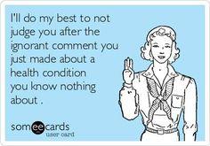 do not judge...  Multiple Sclerosis #Awareness  so true i will do my best