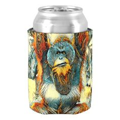 AnimalArt_OrangUtan_20170604_by_JAMColors Can Cooler - home gifts ideas decor special unique custom individual customized individualized