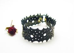 Upcycled Rubber Inner Tube Bracelet / Recycled Jewellery / Upcycled Jewelry / Eco Friendly Jewelry via Etsy