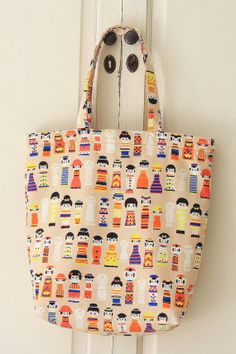 Handmade ECOFriendly Shopping Bag Tote  Cute by cottonblue on Etsy, $38.50