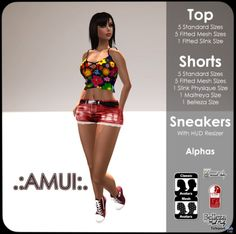 Top, Shorts, & Sneakers Teleport Hub Group Gift by AMUI