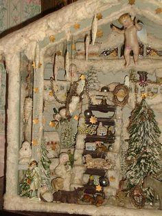 Detail, Vintage German Christmas scene. Posted on Ullabenulla's Blog, December 2009