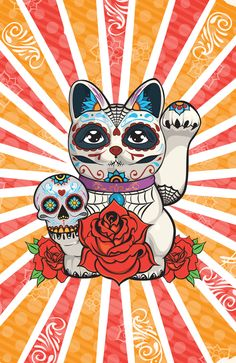 Lucky Day Of The Dead by Above and Beyond Graphic Studios , via Behance