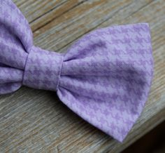 Men's Soft Purple Houndstooth Bow Tie  clip by DivineDomestication, $19.00