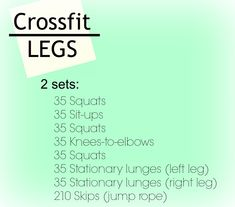 Legs workout that can be altered slightly for a no equipment workout, if needed.