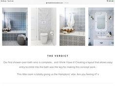 Shower Over Bath, Easy Entry, The Hamptons, Bathtub, Layout, Mirror, Bathroom, Furniture, Design