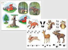 """Sagan """"Lille Lustig och skogens vänner"""" - lär barn om allas lika värde! Förmedlar god värdegrund om vänskap och utanförskap, men också om djur och natur. Toddler Activities, School Supplies, Art Lessons, Literacy, Fairy Tales, Moose Art, Diy Crafts, Learning, Animals"""