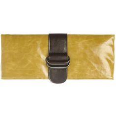 """Shiraleah Harper Vegan Clutch Bold Mustard Color L 11.75"""" X W 1"""" X H 5"""" Antique…"""