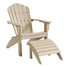 HDPE Adirondack Chair & Ottoman   European-Inspired Home Furnishings   Ballard Designs