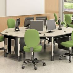 Low Price Paragon Furniture 3 Station Multi-User Workstation $947 each would need at least 6 but it looks so good