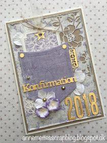 Anne-Mette´s scrapblog: Konfirmationskort 2018 Scrap, My Love, Frame, Handmade, Design, Decor, Cards, Birthday, Picture Frame