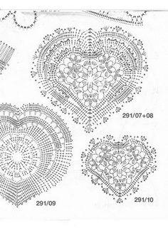 Ivelise Feito à Mão: Muitas Ideias Para Corações Em Crochê!