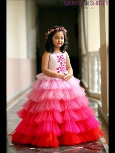 Call or whatsapp 8288944518 to order this beautiful Little gown Customizations available. Girls Frock Design, Baby Dress Design, Kids Frocks Design, Baby Frocks Designs, Baby Design, Kids Gown Design, Gowns For Girls, Frocks For Girls, Little Girl Dresses