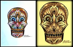 teschio, teschio messicano, skull