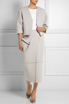 ADAM LIPPES Wool and cashmere-blend jacket