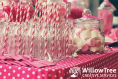 Willow Tree Creative Services - Pink baby shower lolly buffet