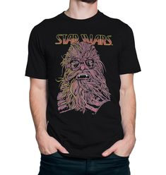 Based on the second Star Wars spinoff film, 'Solo', this Solo Star Wars t-shirt features a younger Chewbacca with carefully rendered fur and protective goggles. Star Wars Merchandise, Hits Movie, Star Wars Tshirt, Chewbacca, Two By Two, Mens Tops, T Shirt, Supreme T Shirt