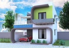 Yup, this is the photo-list of top 30 modern house designs for I expect you to at least admit that those homes are truly incredible pieces of modern Bungalow House Design, House Front Design, Modern House Design, Front Elevation Designs, House Elevation, Facade Design, Exterior Design, Villa Design, Dream House Plans