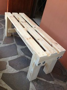 32 Ideas Homemade Outdoor Furniture Do It Yourself Diy Bench Diy Furniture Plans Wood Projects, Wood Shop Projects, Wooden Pallet Furniture, Woodworking Projects Diy, Diy Pallet Projects, Diy Wood Projects, Wood Crafts, Pallet Crafts, Woodworking Books