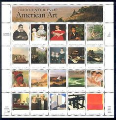 American Art postage stamps