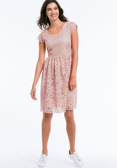 Plus Size Tea Lace Dress