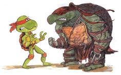 """""""This drawing by Jeff Victor is appropriately titled """"Rebooted."""" While you could see this as the specific problem with the upcoming film's designs, it works just as well as a general commentary on the """"gritty,"""" """"dark,"""" and """"realistic"""" bent of most reboots."""""""
