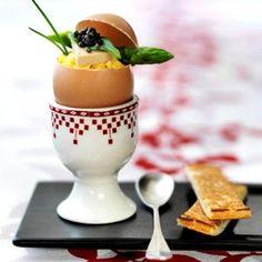 oeufs brouillés au caviar et foie gras