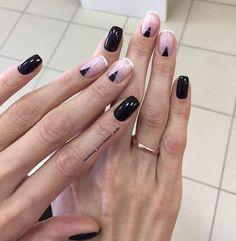 Autumn nails, Beautiful nails 2017, Black nails ideas, Moon fall nails, Nails ideas 2017, Square nails, Stylish nails, Translucent nails