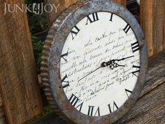repurposed flan metal tin clock
