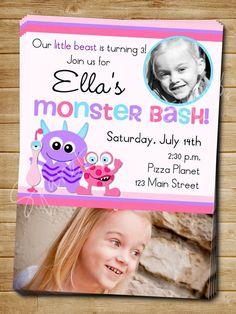 Printable Girl Monster Invitation