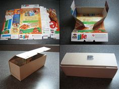 Use cereal boxes to make little gift boxes