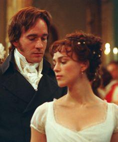 The way Darcy looks at Elizabeth