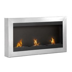 Ignis Magnum Wall Mounted Ventless Ethanol Fuel Fireplace