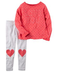 From the classroom to the playground, a cozy top and leggings are a classic combo!