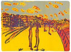 Frans Widerberg -  Gult landskap Yellow Art, Yellow Painting, Green And Orange, Norway, Fine Art, Artist, Image, Photo Illustration, Artists